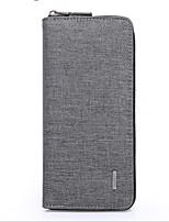 cheap -Men's Bags Polyester Wallet Buttons / Zipper Black / Light Grey