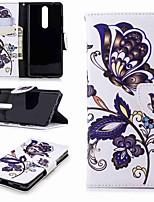 cheap -Case For Nokia Nokia 5.1 / Nokia 3.1 Wallet / Card Holder / with Stand Full Body Cases Butterfly Hard PU Leather for Nokia 5 / Nokia 3 / Nokia 2.1