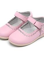 Недорогие -Девочки Обувь Лакированная кожа Весна лето Удобная обувь На плокой подошве На липучках для Дети Светло-Розовый