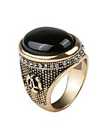 cheap -Men's Sculpture Band Ring / Ring - Resin Flower, Faith Simple, Vintage, European 7 / 8 / 9 Gold / Silver For Wedding / Daily