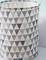 cheap -Cotton / Polyster Round New Design / Geometric Pattern Home Organization, 1pc Laundry Bag & Basket