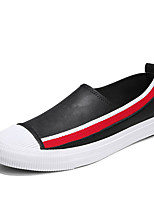 cheap -Men's PU(Polyurethane) Summer Comfort Loafers & Slip-Ons Color Block White / Black / Gray