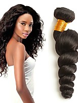 Недорогие -3 Связки Перуанские волосы Свободные волны Натуральные волосы Человека ткет Волосы / Пучок волос / Накладки из натуральных волос 8-28 дюймовый Естественный цвет Ткет человеческих волос