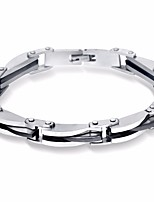 cheap -Men's Link / Chain Link Bracelet - Titanium Steel Creative Stylish, European, Trendy Bracelet Silver For Gift / Holiday