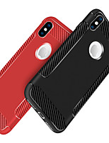cheap -Case For Apple iPhone X / iPhone 8 Shockproof / Frosted Back Cover Solid Colored Soft TPU for iPhone X / iPhone 8 Plus / iPhone 8