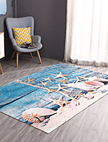 cheap -Doormats Casual / Modern Polyster, Rectangular Superior Quality Rug