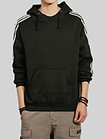 cheap -Men's Sports Long Sleeve Slim Hoodie - Solid Colored / Striped Hooded