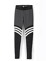 abordables -Mujer Deportivo Legging - A Rayas Media cintura
