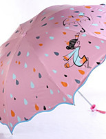 Недорогие -Полиэстер / Нержавеющая сталь Жен. / Девочки Солнечный и дождливой / Милый Складные зонты