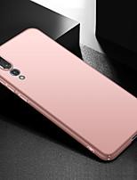 Недорогие -Кейс для Назначение Huawei P20 Pro Ультратонкий Кейс на заднюю панель Однотонный Твердый ПК для Huawei P20 Pro
