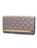 cheap -Women's Bags PU(Polyurethane) Wallet Embossed Black / Light Grey / Khaki
