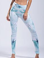 abordables -Mujer Diario Básico Legging - Geométrico Media cintura