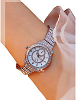 cheap -Women's Wrist Watch Chronograph / Luminous / Casual Watch Alloy Band Bangle / Elegant Silver