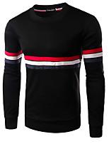 cheap -Men's Basic Sweatshirt - Striped / Color Block