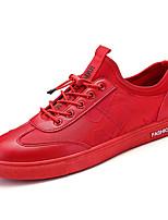 Недорогие -Муж. Полиуретан Лето Удобная обувь Кеды Белый / Черный / Красный
