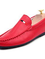 abordables -Homme Chaussures Cuir Nappa Automne Moccasin Mocassins et Chaussons+D6148 Blanc / Noir / Rouge