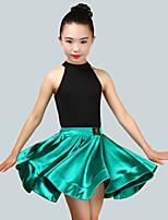 abordables -Baile Latino Accesorios Chica Rendimiento Licra Fruncido Sin Mangas Cintura Media Faldas / Leotardo / Pijama Mono