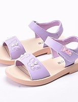 cheap -Girls' Shoes Cowhide Summer Comfort / Flower Girl Shoes Sandals for White / Purple / Pink
