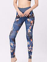 cheap -Women's Daily Basic Legging - Floral High Waist