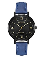 cheap -Geneva Women's Wrist Watch Chinese New Design / Casual Watch / Cool Leather Band Casual / Fashion Black / Red / Brown