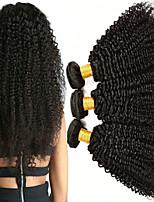 Недорогие -Малазийские волосы Kinky Curly Подарки / Человека ткет Волосы / Уход за волосами 3 Связки 8-28 дюймовый Ткет человеческих волос Модный дизайн / Мягкость / Толстые Черный Расширения человеческих волос