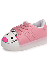 cheap -Girls' Shoes PU(Polyurethane) Spring & Summer Comfort Sneakers Walking Shoes LED for Kids White / Black / Pink