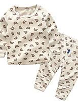 Недорогие -Дети (1-4 лет) Мальчики С принтом Длинный рукав Набор одежды