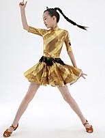 economico -Balli latino-americani Vestiti Da ragazza Addestramento Elastene Più materiali Mezza manica Naturale Abito