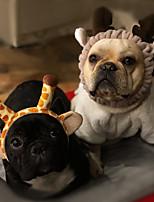 Недорогие -Грызуны / Собаки / Кролики Бант Одежда для собак Однотонный Розовый / Белый / Черный / Хаки Флис Костюм Для домашних животных Спорт и отдых / Украшения для волос