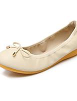 cheap -Women's Shoes PU(Polyurethane) Spring / Summer Comfort Flats Flat Heel Black / Beige / Pink