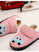cheap -Boys' / Girls' Shoes Cowhide Spring &  Fall First Walkers Sneakers Magic Tape for Baby Beige / Blue / Pink