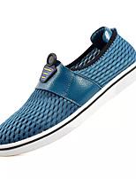 abordables -Homme Chaussures Cuir Nappa / Maille Automne Confort Mocassins et Chaussons+D6148 Gris / Marron / Bleu
