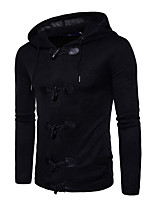 cheap -Men's Long Sleeve Pullover - Solid Colored Hooded