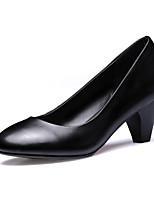 economico -Per donna Scarpe Nappa Primavera estate Comoda Tacchi Heelotypic Heel Nero