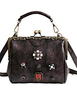 cheap -Women's Bags PU(Polyurethane) Tote Crystals Black / Blushing Pink / Purple