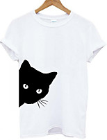 cheap -Women's Street chic T-shirt - Animal