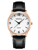 cheap -Geneva Women's Wrist Watch Chinese New Design / Casual Watch / Cool Leather Band Casual / Fashion Black / Brown / Navy