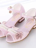 Недорогие -Девочки Обувь Полиуретан Лето Удобная обувь / Детская праздничная обувь Сандалии для Серебряный / Розовый