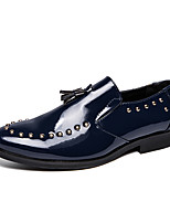 cheap -Men's Formal Shoes Faux Leather Fall & Winter Loafers & Slip-Ons Black / Red / Blue / Beading / Wedding / Party & Evening