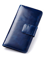 cheap -Women's Bags Cowhide Wallet Zipper Purple / Yellow / Royal Blue