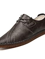 Недорогие -Муж. Полиуретан Осень Удобная обувь Туфли на шнуровке Черный / Красный / Хаки