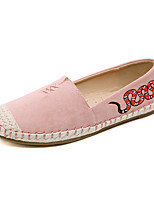 cheap -Women's Shoes PU(Polyurethane) Spring & Summer Comfort Flats Flat Heel Round Toe Animal Print Blue / Pink / Almond / 3D