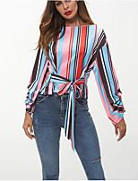cheap -Women's Basic T-shirt - Striped