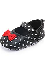 Недорогие -Девочки Обувь Полиуретан Лето Обувь для малышей На плокой подошве На липучках для Дети Белый / Черный