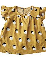 Недорогие -Дети (1-4 лет) Девочки Горошек С короткими рукавами Платье