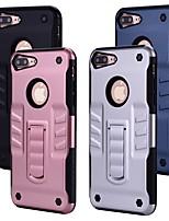 Недорогие -Кейс для Назначение Apple iPhone 8 со стендом Кейс на заднюю панель Однотонный Твердый ПК для iPhone 8