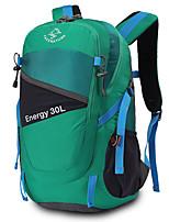 Недорогие -30 L Рюкзаки - Пригодно для носки, Воздухопроницаемость На открытом воздухе Пешеходный туризм, Походы, Путешествия Естественно-зеленный, Зеленый, Фиолетовый