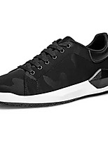 cheap -Men's Knit / Mesh Fall Comfort Sneakers Camouflage Color Black