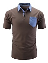 cheap -Men's Polo - Solid Colored / Color Block Patchwork