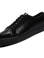 Недорогие -Муж. Замша Осень Удобная обувь Кеды Белый / Черный